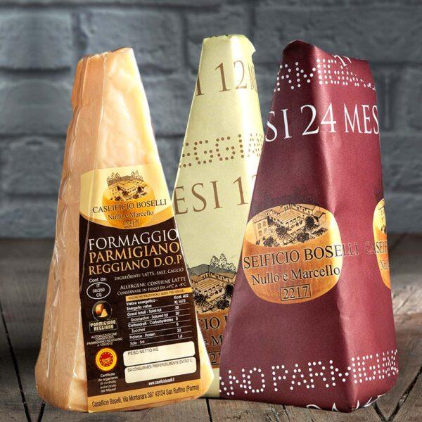 Tris Parmigiano Reggiano DOP 12/24/36 mesi - Caseificio Boselli