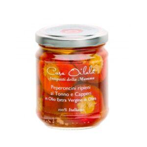 Peperoncini al Tonno in Olio Extravergine di Oliva 190 g - Oilalà