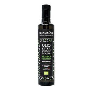 Bottiglia Olio Extravergine di Oliva Biologico Monocultivar Ogliarola Garganica - Buondioli