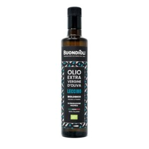 Olio Extravergine di oliva biologico monocultivar leccino Buondioli