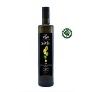 Bottiglia Olio Extravergine di Oliva BIO - SolOlio - 750 ml Azienda Agricola Virzì